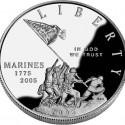 2005 Marine Corps Proof Silver Dollar Obverse