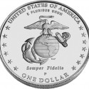 2005 Marine Corps Uncirculated Silver Dollar Reverse