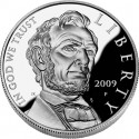 Lincoln Proof Silver Dollar Obverse
