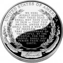 Lincoln Proof Silver Dollar Reverse