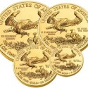 Gold American Eagles, Spilled Coins, Koala Coins